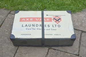 Vintage-laundry-case-old-AXE-VALE-linen-clothing-case-box-FREE-POSTAGE