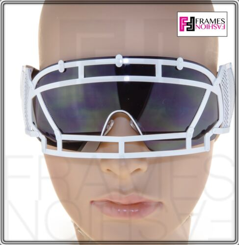 e233c654e0c1 2 of 9 KTZ x Linda Farrow Football Helmet Sunglasses Black White Mirrored  Mask KTZ1