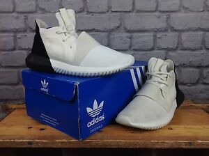 ADIDAS-LADIES-UK-5-EU-38-WHITE-BLACK-TUBULAR-DEFIANT-TRAINERS-RRP-90