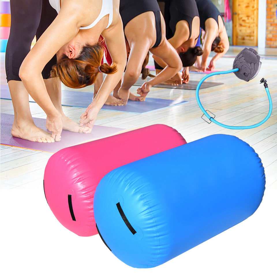 Inflatable Air Roller with Pump Home Exercise Cylinder GYM Gymnastic Beam Yoga