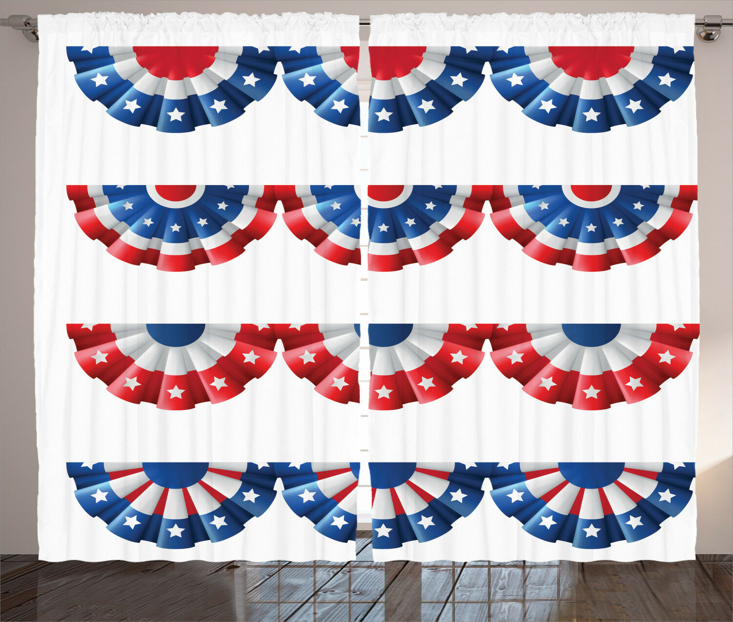 American American American Curtains 2 Panel Set Decoration 5 Größes Window Drapes Ambesonne 744505