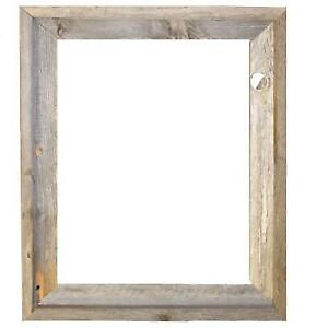 16x20 2 Wide Signature Rustic Barnwood Reclaimed Wood Open Frame