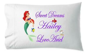 New The Little Mermaid Kiss The Boy Airel And  Eric 2 Pack Pillowcase Set Disney