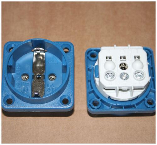 MENNEKES Schuko culture prise électrique installation Prise de courant ip20 16 A BLEU type 11531