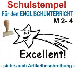Stempel englisch Schule Lehrerstempel Belobigungsstempel Motivstempel  M 4-4