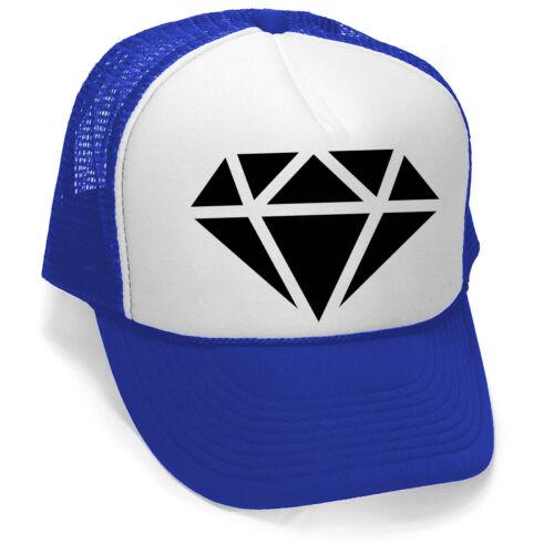 New Black Diamond Trucker Hat Blue//White Cap Cali Workout Cool Sports Jewel Gym