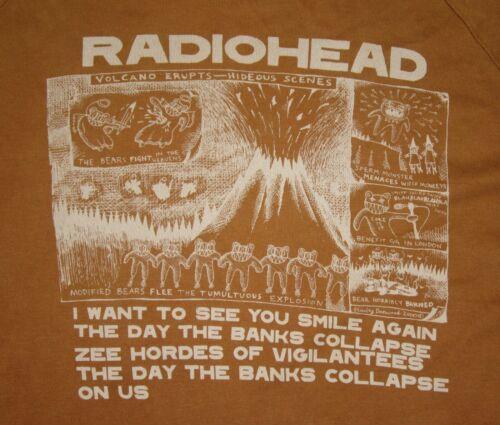 Radiohead Volcano Erupts Vtg 2000 Stanley Donwood