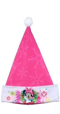 Details about  /Disney Minnie Mouse Christmas Santa Hat One Size Fits Most Pink New