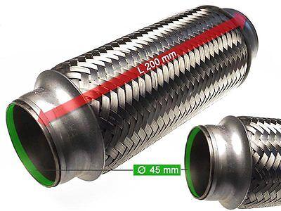 mm Auspuff Flexrohr Hosenrohr Katalysator Ø 40 x 200 Länge