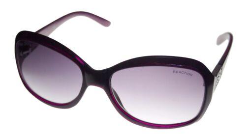 Kenneth Cole Reaction Plastic Purple Rectangle Sunglass Gradient Lens KC1255 81B