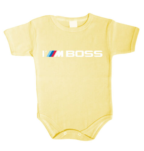 I/'m BOSS Baby Body Bodysuit Boy Girl babygrow  Jumpsuit