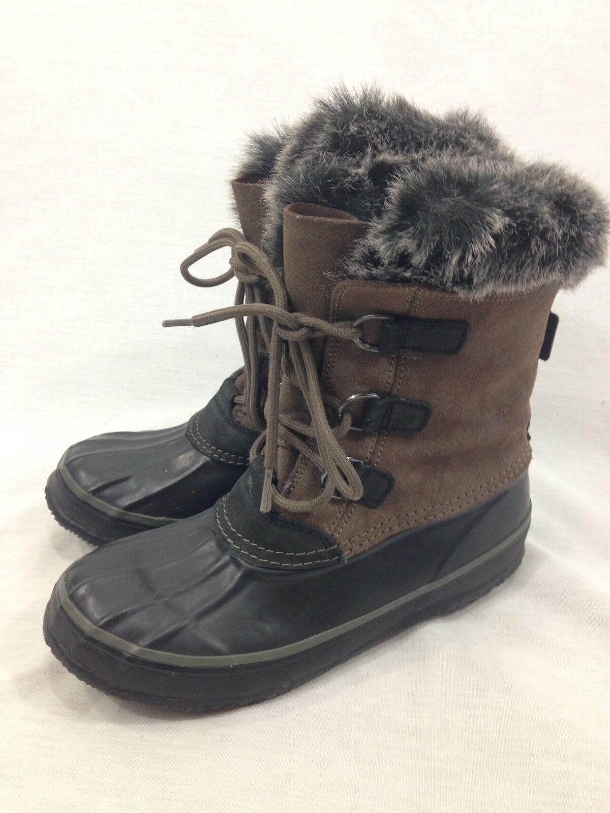 Kamik Temptress PAC Stiefel damen 6 Faux Fur Liners Lace Up Snow Winter Warm