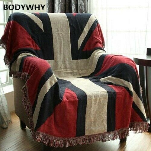 Thicken Pure Cotton Thread Knitted Blanket Tribal Bohemian Sofa Bed Blankets
