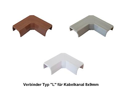 Farbe bitte wählen Verbinder Innenecke für Kabelkanal 8x9mm