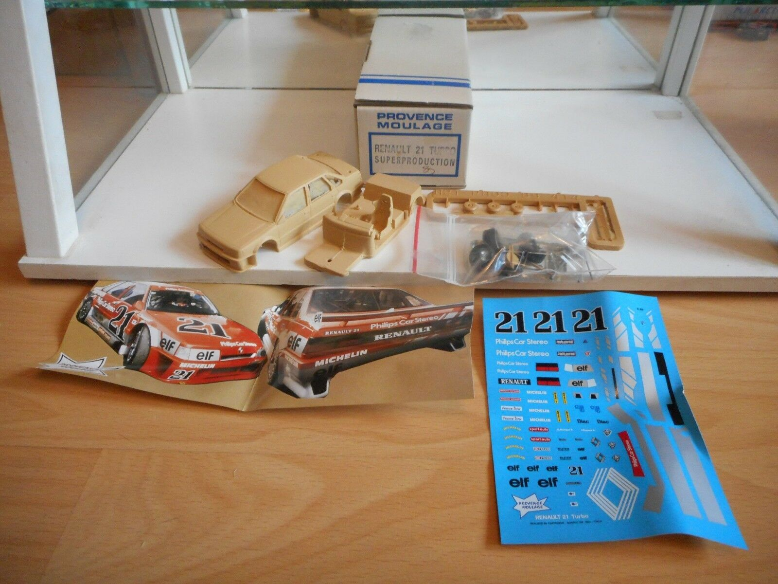 Model Resin Kit Provence Moulage Renault 21 Turbo Super Production - 1 43 in Box