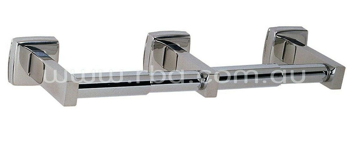 RBA CLASSIC DOUBLE TOILET PAPER HOLDER 320mm Bright Stainless Steel