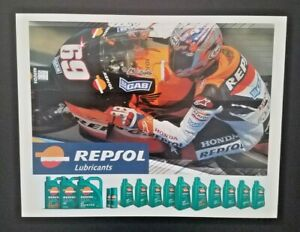 Vintage Poster 2004 Nicky Hayden Repsol Honda MotoGP RC211V Advertising Card