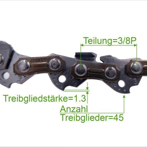 2 Stück Profi C Sägekette 3//8P 1.3 mm 45 TG Low Profi Ersatzkette für Stihl