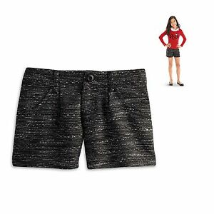 American Girl CL LE GRACES CITY SHORTS FOR GIRLS SIZE 7 SMALL Tweed Shorts NEW