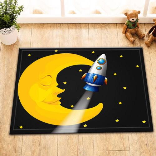 Door Floor Mat Bathroom Rug Bedroom Carpet Bath Mats Non-Slip Moon God Rocket