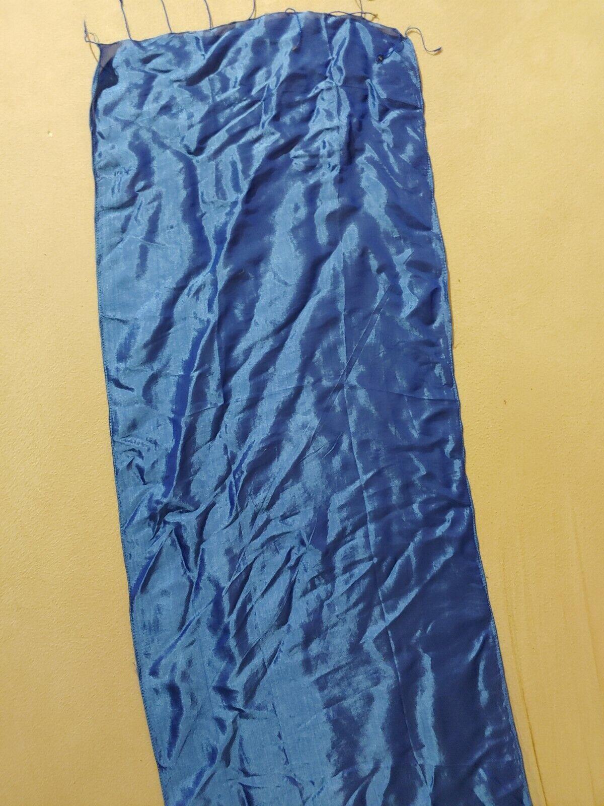 Seidentuch, Seidenschal blau, 100% Seide, 1, 63 m × ca. 40 cm blau.