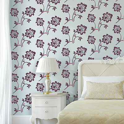 Large Wall Stencil Floral Pattern Damask Stencil for DIY Wallpaper Look