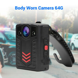 1296P-64GB-Body-Worn-Camera-Wide-Angle-Waterproof-2-034-Display-for-Police-Personal