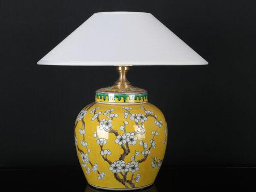 Chinesische Vasenleuchte mit Pflaumenblüte Vase gelb #A-LEU-LA04