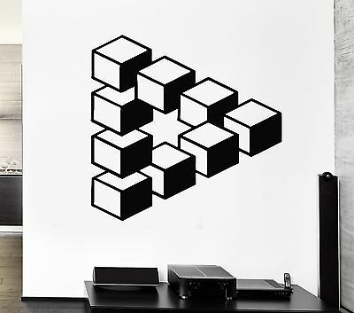 Wall Stickers Decal Decor Modern Art Living Room Style Optical Illusion (ig1307)