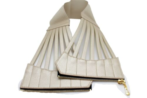 Women Hip High Waist Wide Metallic Gold Faux Leather Corset Belt Plus L XL XXL