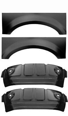 Extended 02 09 Dodge 6Pc Wheel Arch Inner /& Outer Wheel House Set Wheelhouse Kit