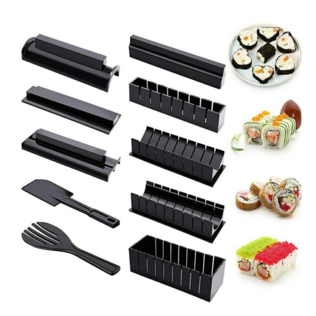 Praktische Sushi Rollen Roller Kunststoff Mat Maker Küche DIY Gut TPI WK