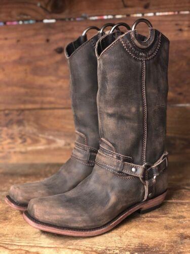 Liberty Black Women/'s Vintage Cafe Square Toe Harness Boot LB-71254