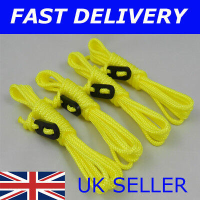 X4 NEON /& BLACK Guy Line Ropes 3 Metres Tent Camping Gazebo Rope Paracord