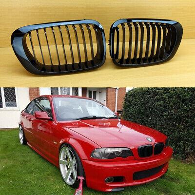 MIT CHROMED FRONT /& BLACK REAR GRILLE BMW E46 2D 3 SERIES 1999-2002