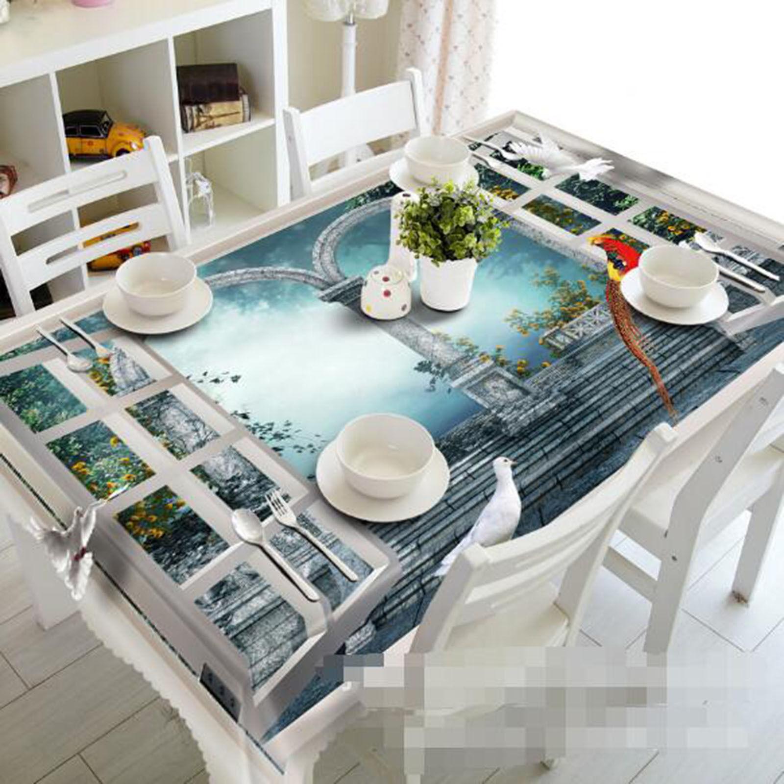 3D étapes 63 Nappe Table Cover Cloth fête d'anniversaire AJ papier peint Royaume-Uni Citron