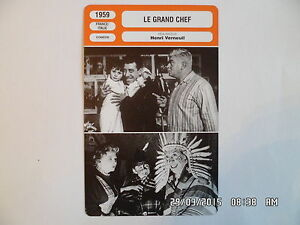 Carte Fiche Cinema 1959 Le Grand Chef Fernandel Gino Cervi Joel