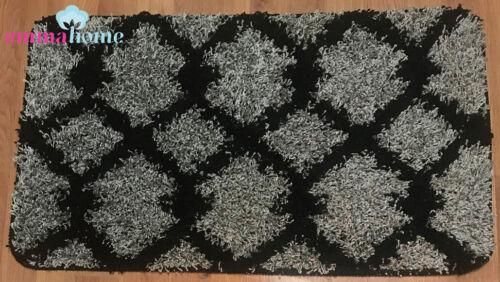 Soft Shaggy NON-SLIP MACHINE WASHABLE Stair Treads Mats//Rugs Grey Taber 22x76cm