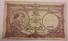20 Francs 1947 Belgique 20 Frank Belgïe 1947 Banknote Belgium