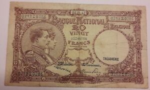 20-Francs-1947-Belgique-20-Frank-Belgie-1947-Banknote-Belgium