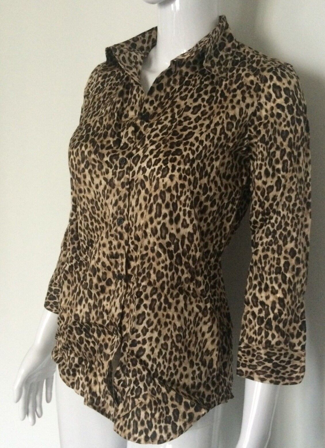 New Ralph Lauren Women's Button-down Animal Print Blouse size XS