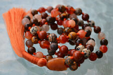 Sacral Chakra mala Natural Gemstone necklace Sense of Belonging Sexual Energy