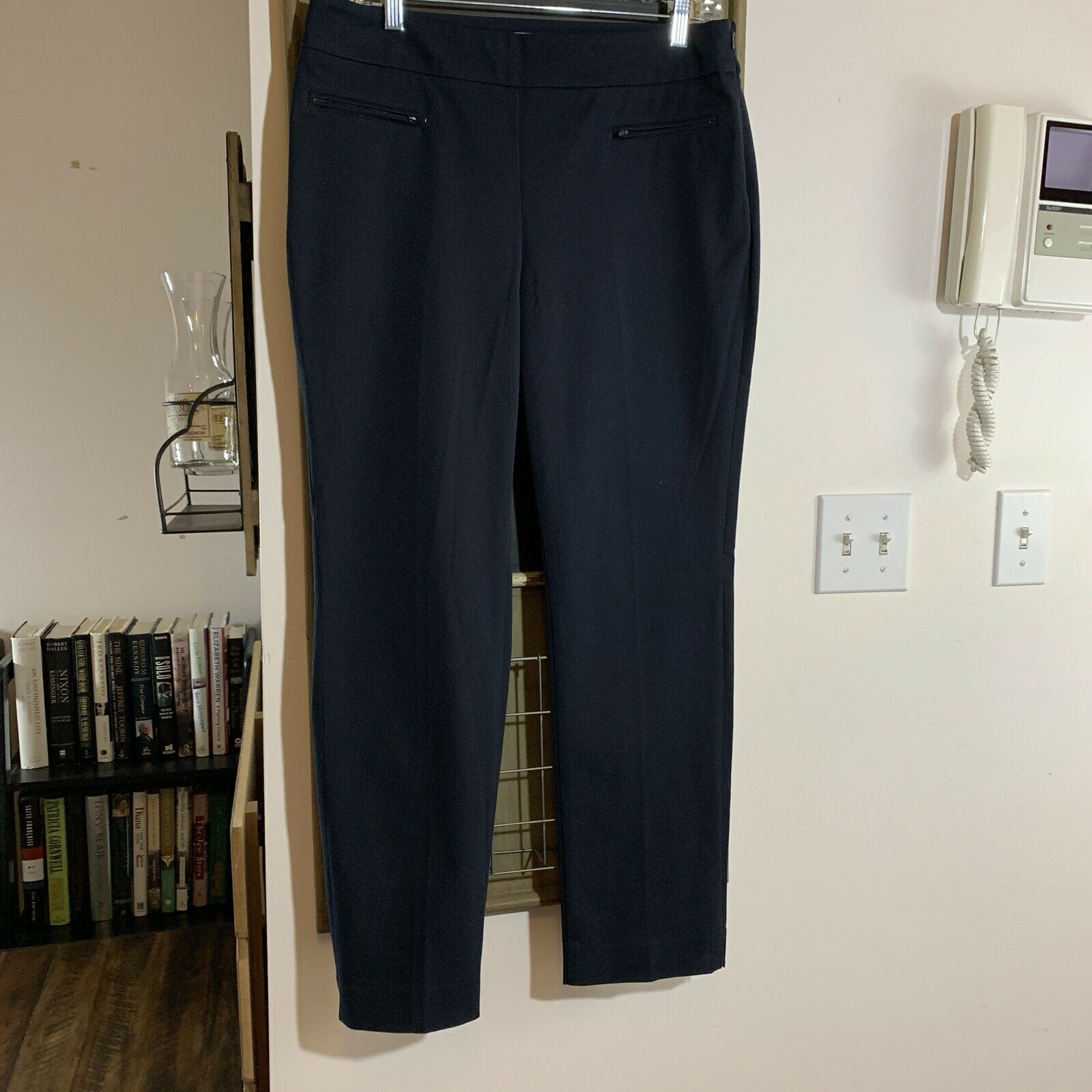 Talbots Petites Side Zip Slit Hem Straight Pants Size 10P
