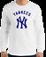 NY-YANKEES-New-York-White-Long-Sleeve-T-Shirt-Navy-Graphic-Cotton-Unisex-S-2XL thumbnail 1