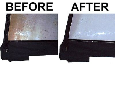 Plastic Window Cleaner Restorer and Repair Polish for Pop Up Camper Starcraft
