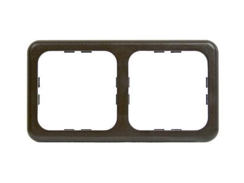 marrone Cornice 2 moduli spina presa interruttore CBE camper caravan grigio