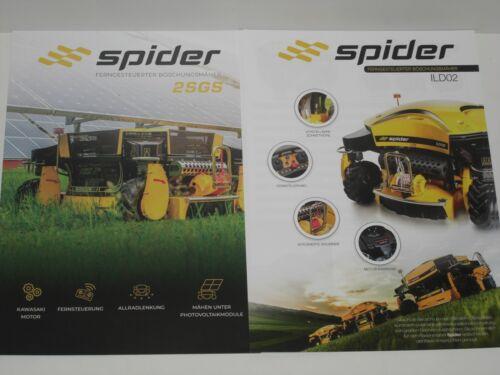 SPIDER ferngesteuerte Böschungsmäher Prospekte 2510