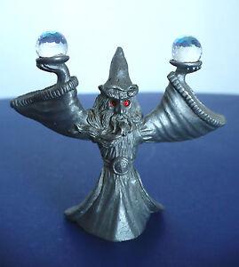 wizard mage crystal balls d d miniature pewter metal figure