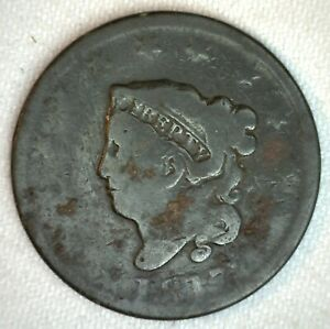 1817-Coronet-Head-US-Large-Cent-Copper-Coin-AG-Almost-Good-1c-US-Penny-Coin