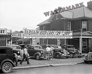 Car Dealerships In Lancaster Ohio >> Details About Photograph Of A Used Car Lot In Lancaster Ohio Year 1938 8x10